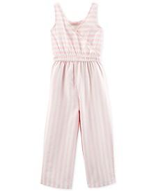 Carter's Little & Big Girls Striped Jumpsuit
