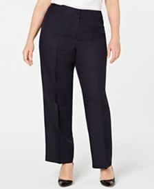 Nine West Plus Size Lightweight Pants