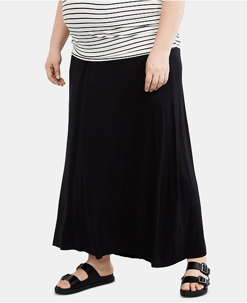46fe3cbcab97 Motherhood Maternity Plus Size Maxi Skirt & Reviews - Maternity ...