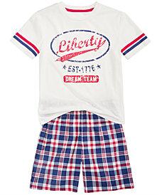 Max & Olivia Little & Big Boys 2-Pc. T-Shirt & Shorts Pajamas Set