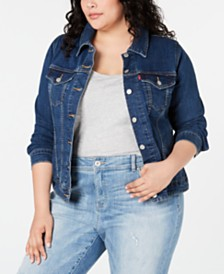 Levi's® Trendy Plus Size Denim Trucker Jacket