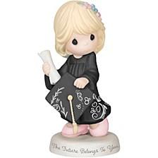 The Future Belongs To You Graduation Girl Figurine Bisque Porcelain 183007