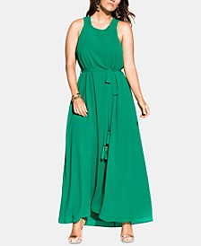 Trendy Plus Size Halter Bliss Maxi Dress