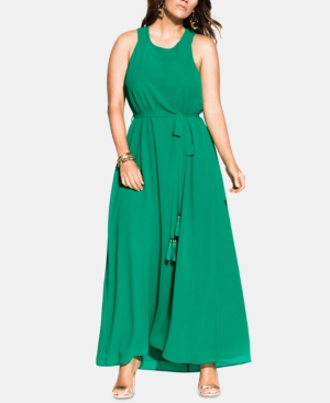 City Chic Dresses TRENDY PLUS SIZE HALTER BLISS MAXI DRESS