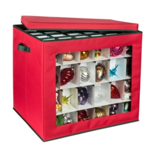 Honey Can Do 120-Count Ornament Storage Container