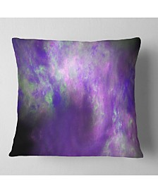 "Designart 'Perfect Light Purple Starry Sky' Abstract Throw Pillow - 16"" x 16"""