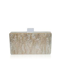 Champagne Mother of Pearl Acrylic Clutch Bag by The Workshop at Macy's