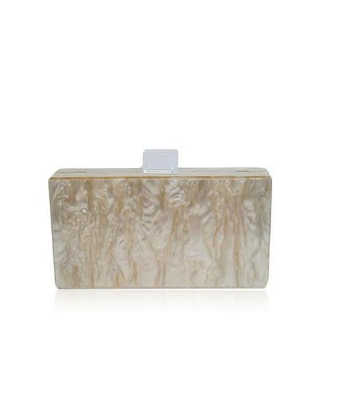 Milanblocks Champagne Mother of Pearl Acrylic Clutch Bag by The Workshop at Macy's