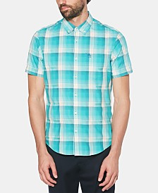 Original Penguin Men's Slim-Fit UV Dobby Plaid Shirt