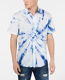 American Rag Men's Spiral Tie Dye Shirt, Created for Macy's