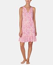 e76a5f7524a Lauren Ralph Lauren Printed Knit Ruffle Flounce Nightgown