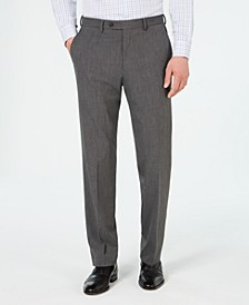 Men's Classic-Fit Stretch Wrinkle-Resistant Gray Sharkskin Suit Pants
