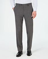 981887491681cf Chaps Men's Classic-Fit Stretch Wrinkle-Resistant Gray Sharkskin Suit Pants