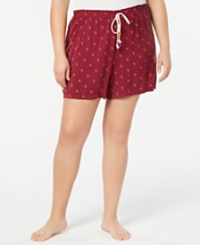 Jenni Plus Size Light Weight Printed Pajama Shorts, Created for Macy's