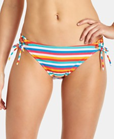 Raisins Juniors' Tahiti Stripe Side-Tie Bikini Bottoms