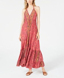 Raga Passion-Struck Halter Maxi Dress