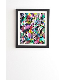 Abstract Wild Strokes Primary Colors Framed Wall Art