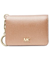 b6642fa23 MICHAEL Michael Kors Crossgrain Leather Key Ring Card Holder