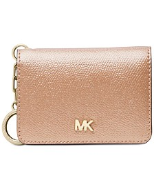 MICHAEL Michael Kors Crossgrain Leather Key Ring Card Holder