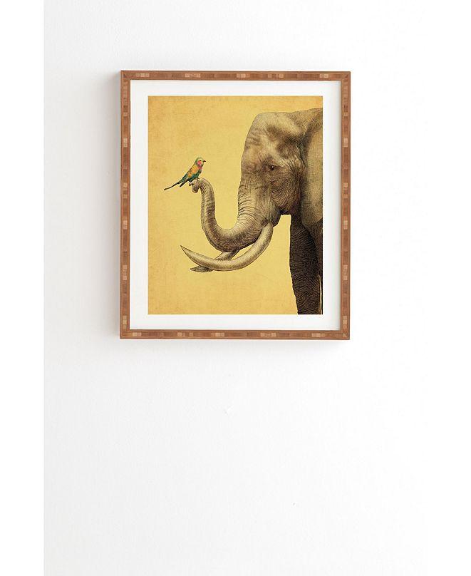 Deny Designs Elephant And Bird Framed Wall Art