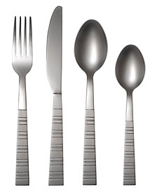 Cambridge Dallas Frost 16-Piece Flatware Set with Caddy, Service for 4