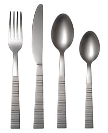 Cambridge Dallas Frost 16-Piece Flatware Set with Caddy