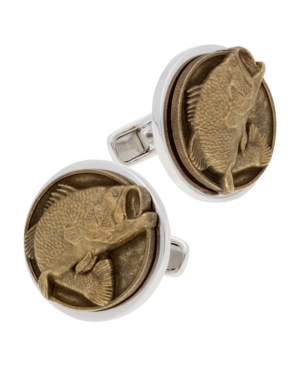 Americana Sterling Silver and Bronze Cufflinks