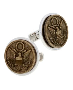 Americana Sterling Silver and Bronze Cufflinks