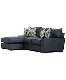 CLOSEOUT! Tuni 2-Pc. Fabric Chaise Sectional Sofa, Created for Macy's