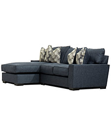 Tuni 2-Pc. Fabric Chaise Sectional Sofa, Created for Macy's