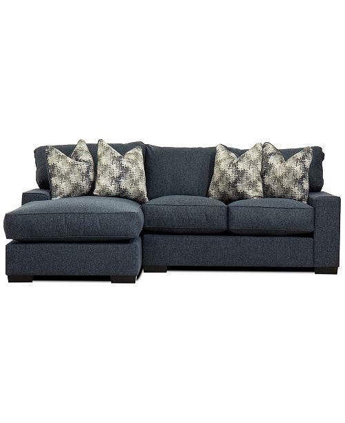 Furniture Tuni 2 Pc Fabric Chaise Sectional Sofa Created