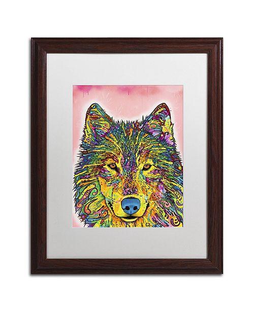 """Trademark Global Dean Russo 'Wolf' Matted Framed Art - 20"""" x 16"""" x 0.5"""""""