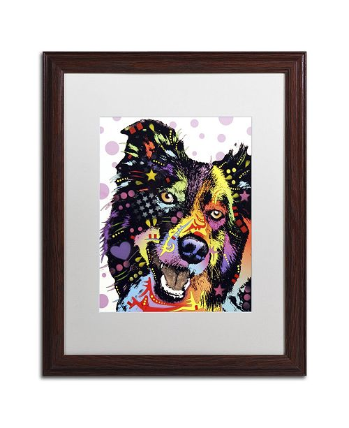 "Trademark Global Dean Russo 'Border Collie' Matted Framed Art - 20"" x 16"" x 0.5"""