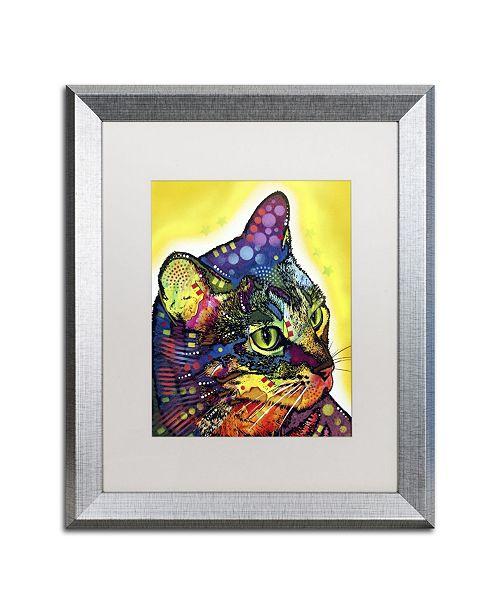 """Trademark Global Dean Russo 'Confident Cat' Matted Framed Art - 20"""" x 16"""" x 0.5"""""""