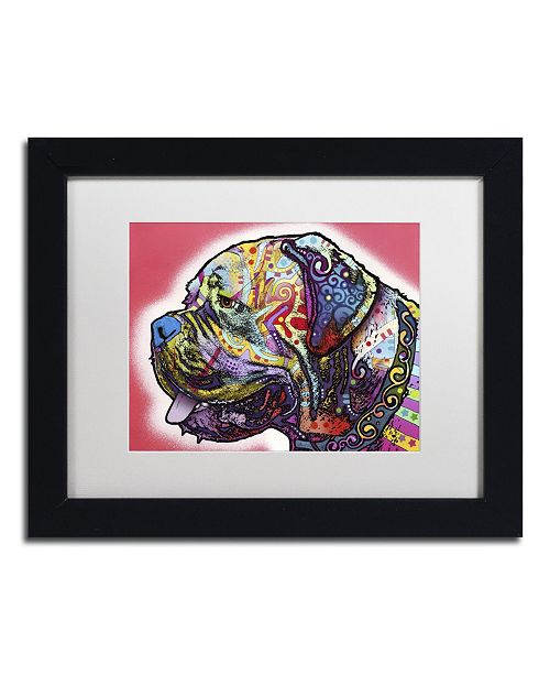 "Trademark Global Dean Russo 'Profile Mastiff' Matted Framed Art - 11"" x 14"" x 0.5"""