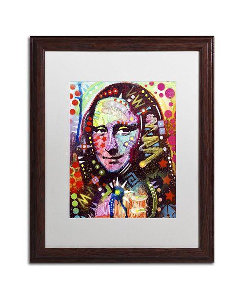 """Trademark Global Dean Russo 'Mona Lisa' Matted Framed Art - 20"""" x 16"""" x 0.5"""""""
