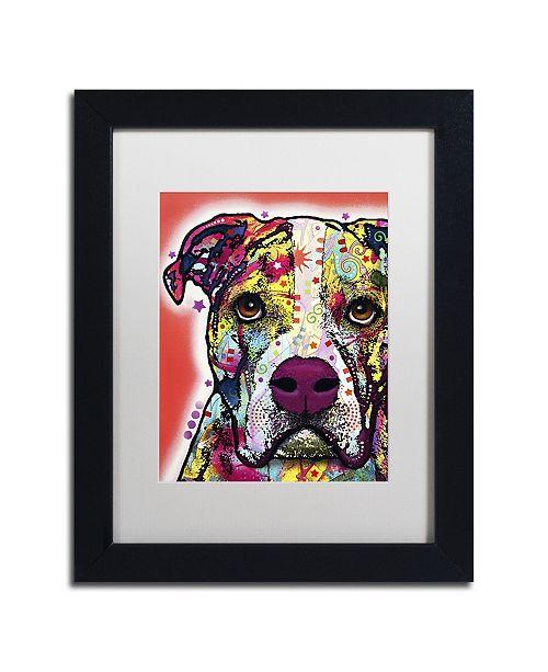 "Trademark Global Dean Russo 'American Bulldog' Matted Framed Art - 11"" x 14"" x 0.5"""