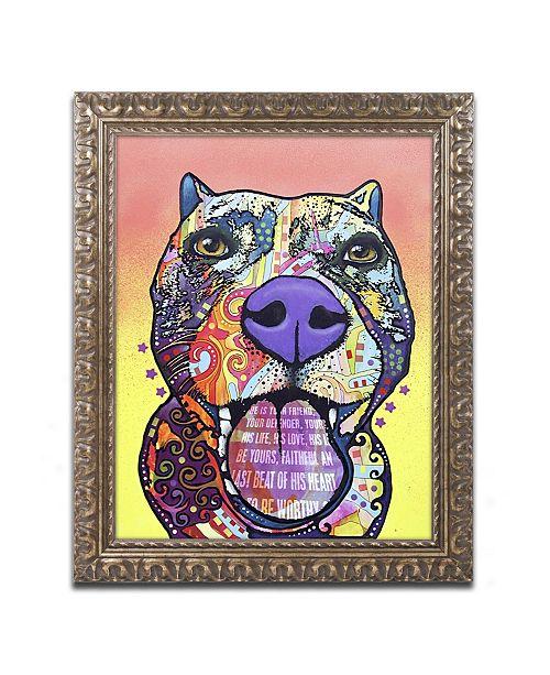 """Trademark Global Dean Russo 'Bark Don't Bite' Ornate Framed Art - 20"""" x 16"""" x 0.5"""""""