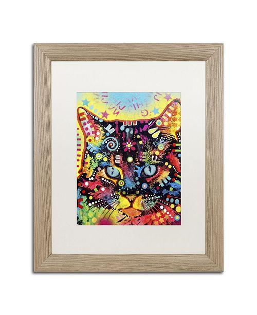 """Trademark Global Dean Russo 'Manx' Matted Framed Art - 20"""" x 16"""" x 0.5"""""""