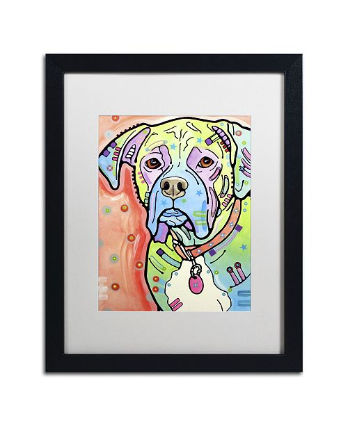 """Trademark Global Dean Russo 'The Boxer' Matted Framed Art - 16"""" x 20"""" x 0.5"""""""