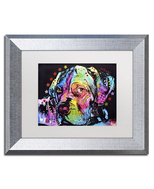 """Trademark Global Dean Russo 'Young Mastiff' Matted Framed Art - 14"""" x 11"""" x 0.5"""""""