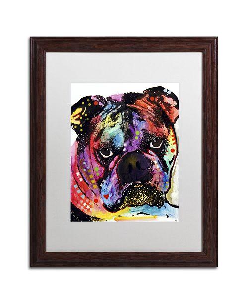"""Trademark Global Dean Russo 'Bulldog' Matted Framed Art - 20"""" x 16"""" x 0.5"""""""