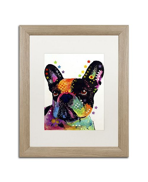 "Trademark Global Dean Russo 'French Bulldog' Matted Framed Art - 20"" x 16"" x 0.5"""