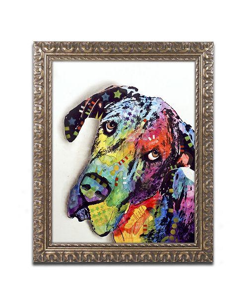 """Trademark Global Dean Russo 'Tilted Dane' Ornate Framed Art - 20"""" x 16"""" x 0.5"""""""