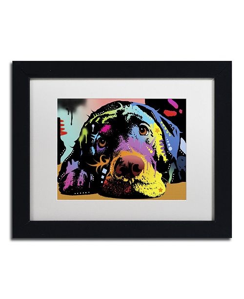 "Trademark Global Dean Russo 'Lying Lab' Matted Framed Art - 11"" x 14"" x 0.5"""