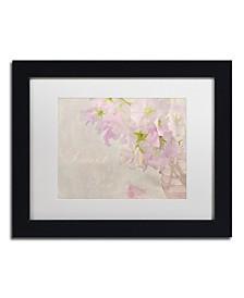 "Cora Niele 'Sweet Pea' Matted Framed Art - 11"" x 14"" x 0.5"""