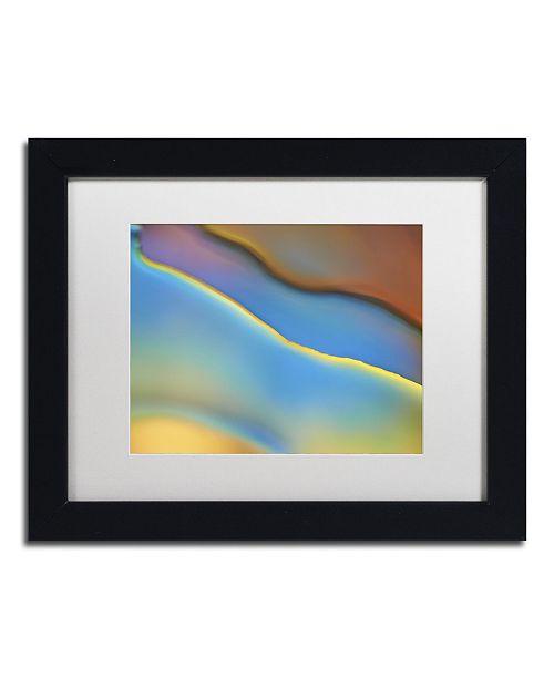 "Trademark Global Cora Niele 'Blue Flow' Matted Framed Art - 11"" x 14"" x 0.5"""