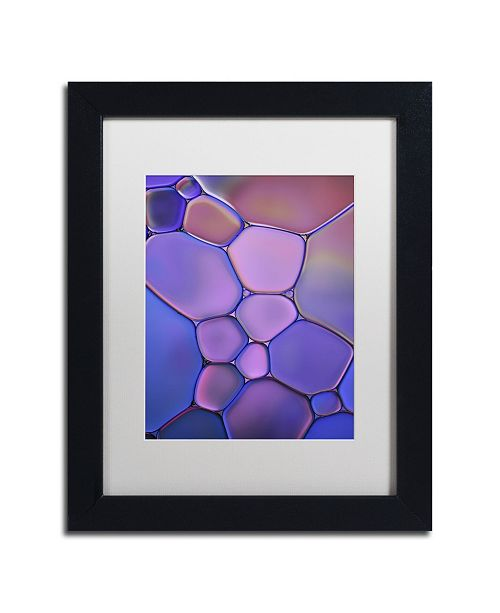 "Trademark Global Cora Niele 'Purple Stained Glass' Matted Framed Art - 11"" x 14"" x 0.5"""