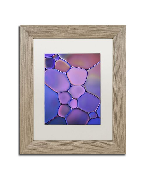 "Trademark Global Cora Niele 'Purple Stained Glass' Matted Framed Art - 14"" x 11"" x 0.5"""