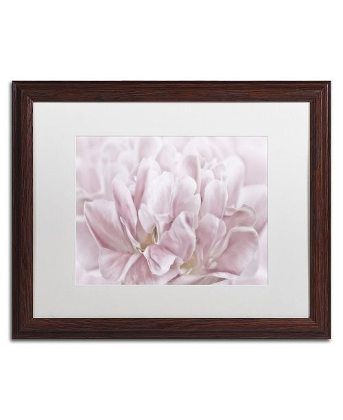 "Trademark Global Cora Niele 'Double Pink Tulip' Matted Framed Art - 20"" x 16"" x 0.5"""